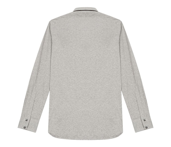 Italian Grey Fine Knit Shirt