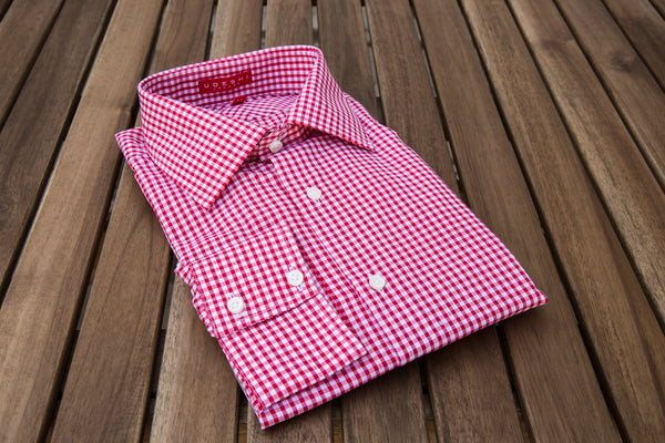 Washed Red Gingham Shirt