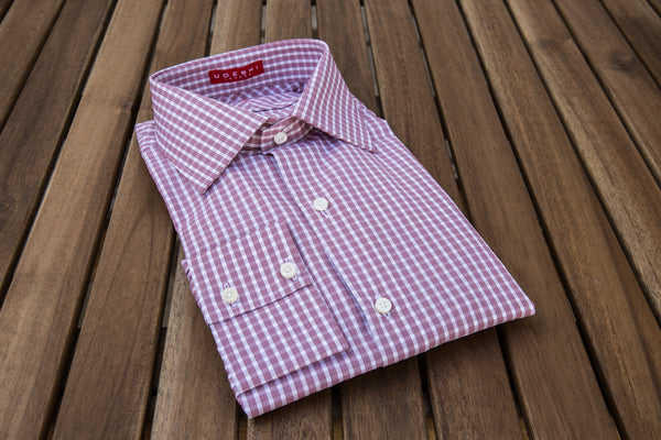 Swiss Burgundy Multiple Check Shirt