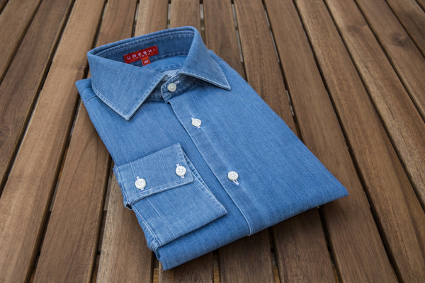 Twice Washed Denim Shirt