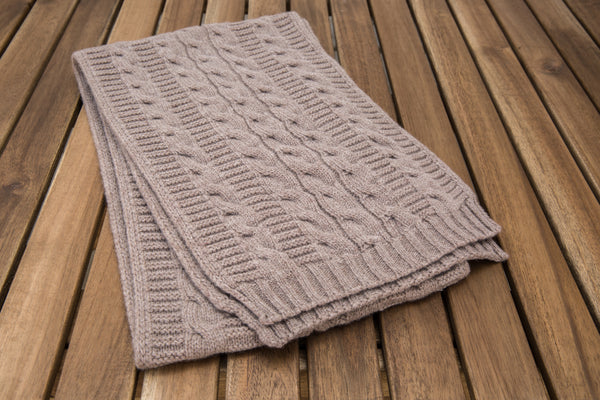 Cable Knit Scarf (Cinnamon)