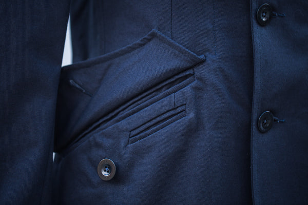 Navy Car Coat