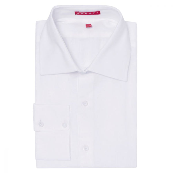 Washed Italian White Linen Shirt