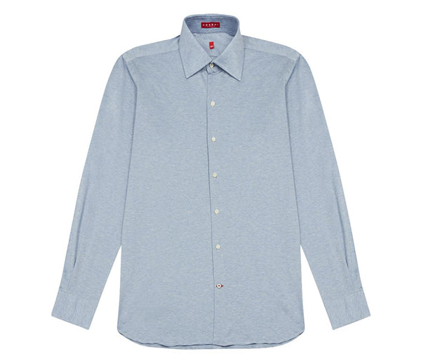 Italian Blue Fine Knit Shirt