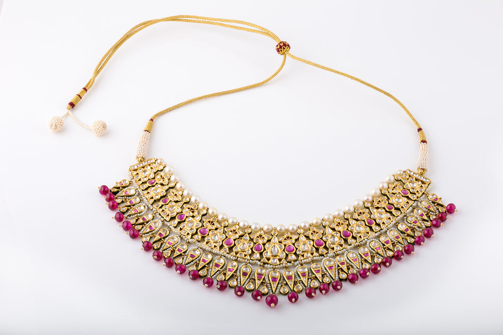 Gold Necklaces with Precious Stones
