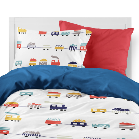 Trains kids duvet set