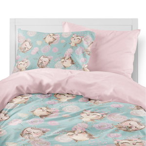 Forest Owls Kids Duvet Set