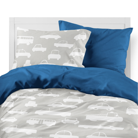 Grey Traffic Kids Duvet Set
