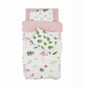 Tropical Flamingo Cot Duvet Set