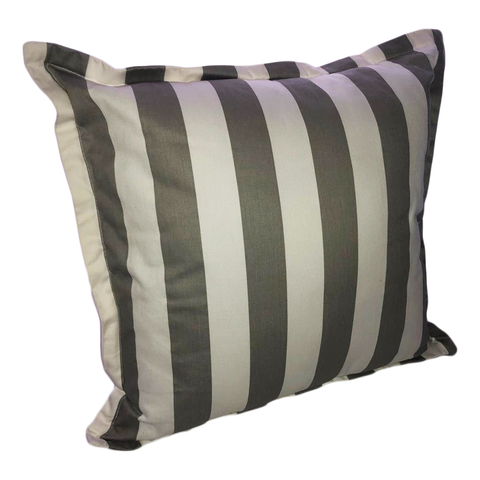 Grey & White Stripes Scatter Cushion