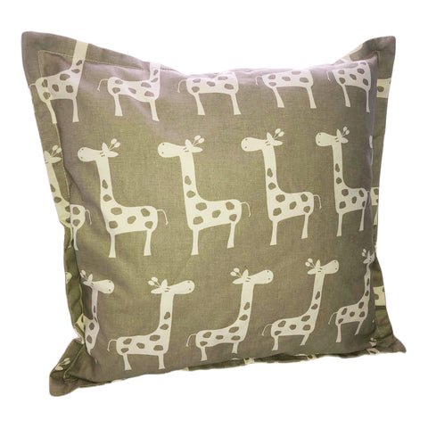 Grey With White Giraffe Scatter Cushion