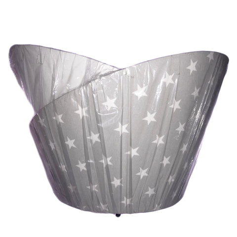 Grey with White stars Lamp Shade