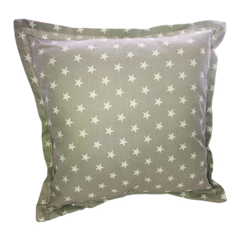 Grey With White Stars Scatter Cushion