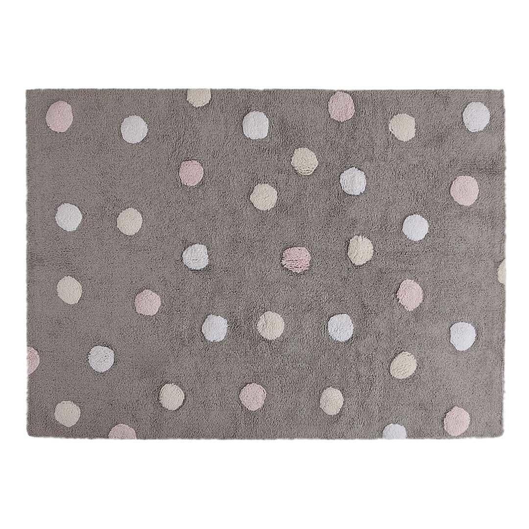 Dotty Rug Grey Pink
