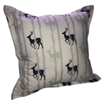 Navy & Mint Birch Stags Scatter Cushion