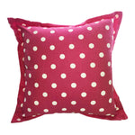 Red With White Polka Dots Scatter Cushion