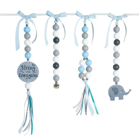 Courageous Ellie Blue Natural Dingle Dangle Set
