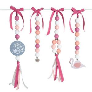 Flamingo Love Natural Dingle Dangle Set