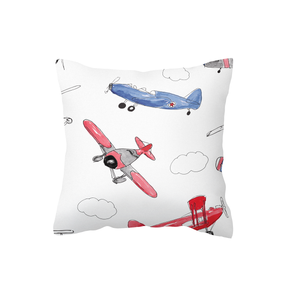 Red and Blue Air Show Scatter Cushion