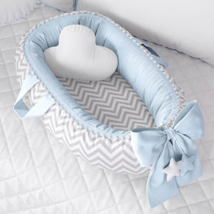 Baby Nest Chevron/Blue