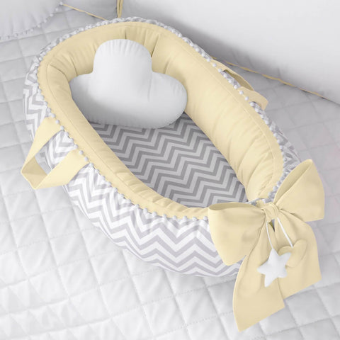 Baby Nest Chevron/Yellow