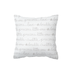 Baby Script Scatter Cushion