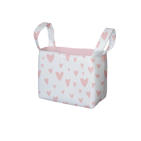 Hearts All Over Fabric Storage Bin