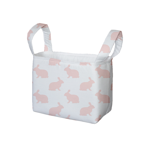 Blush Hop Fabric Storage Bin