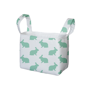 Mint Hop Fabric Storage Bin