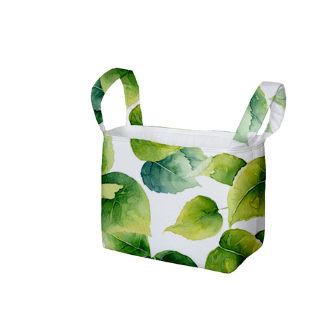 Hydrangea Leaves Fabric Storage Bin