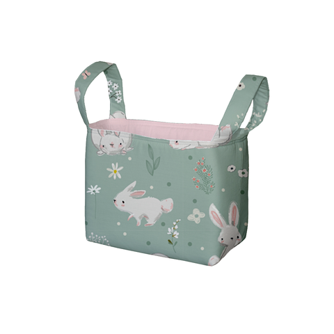 Meadow Hares Fabric Storage Bin