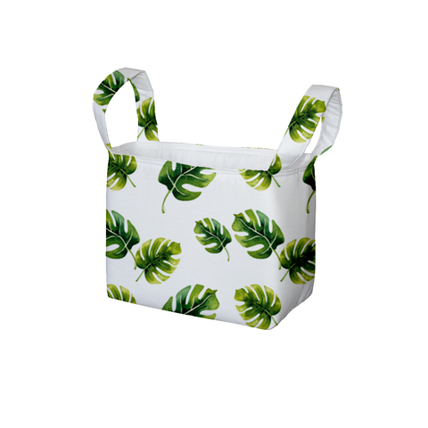 Monstera Leaves Fabric Storage Bin