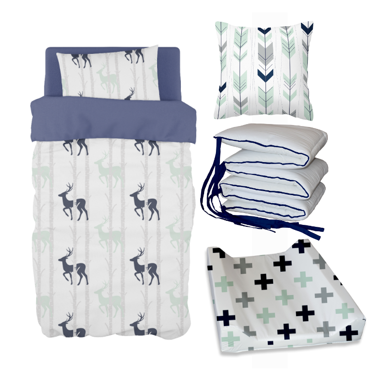 Navy Birch Stag Bale Set