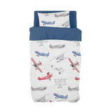 Red and Blue Air Show Cot Duvet Set