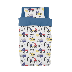 Diggers and Dozers Primary Cot Duvet Set