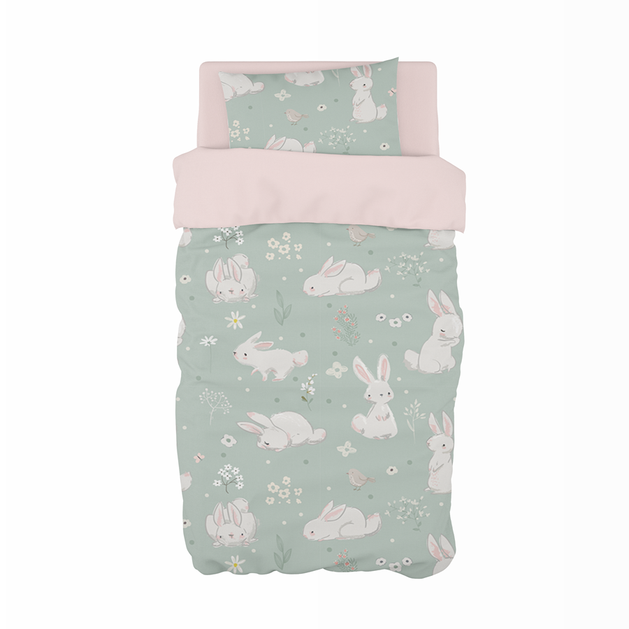 Meadow Hares Cot Duvet Set