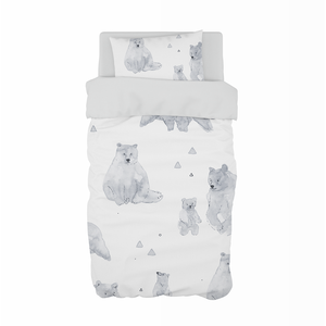 Watercolour Bears Cot Duvet Set