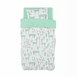 Mint Snowy Woodland Cot Duvet Set