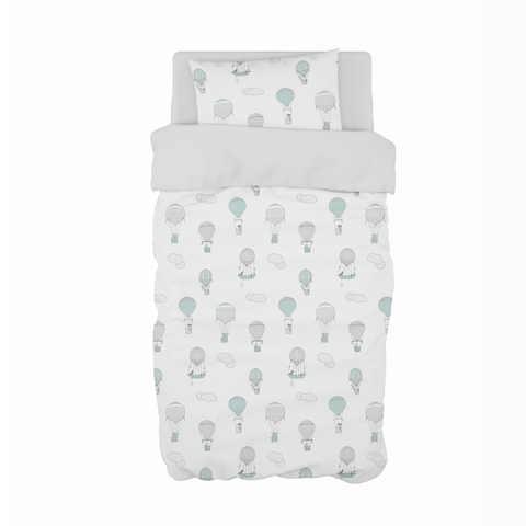 Blue Up and Away Cot Duvet Set