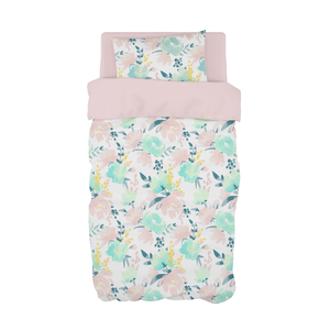 Watercolour Floral Cot Duvet Set
