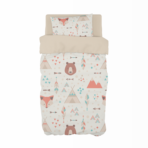 Fox and Bear Cot Duvet Set