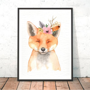 Painted Boho Fox Print