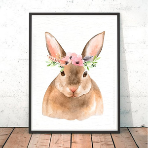 Painted Boho Rabbit Print
