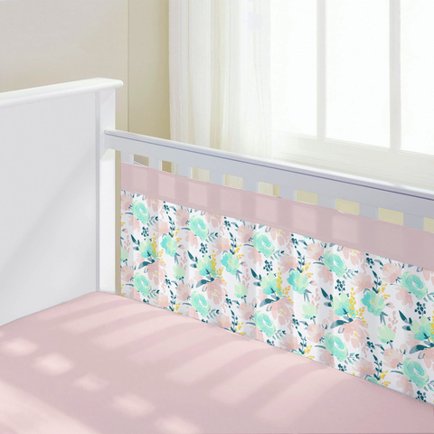 Watercolor Floral Bumper Liners