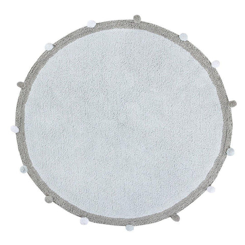 Bubbly Soft Blue Rug