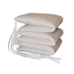 Blush and Gold Chevron Padded Cot Bumper