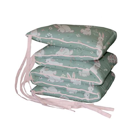 Meadow Hares Padded Cot Bumper