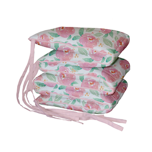 Watercolour Roses Padded Cot Bumper