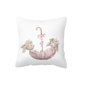 Umbrella Bunnies Scatter Cushion Cover