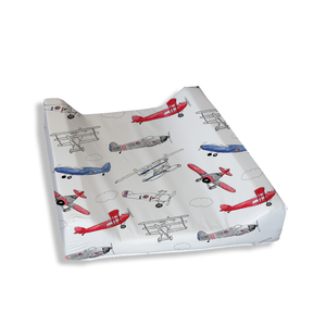 Red and Blue Air Show Change Mat Cover